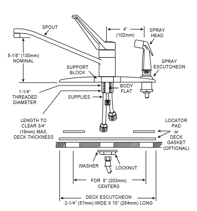 Moen Single Handle Kitchen Faucet Repair Diagram