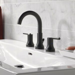 Wide spread faucet