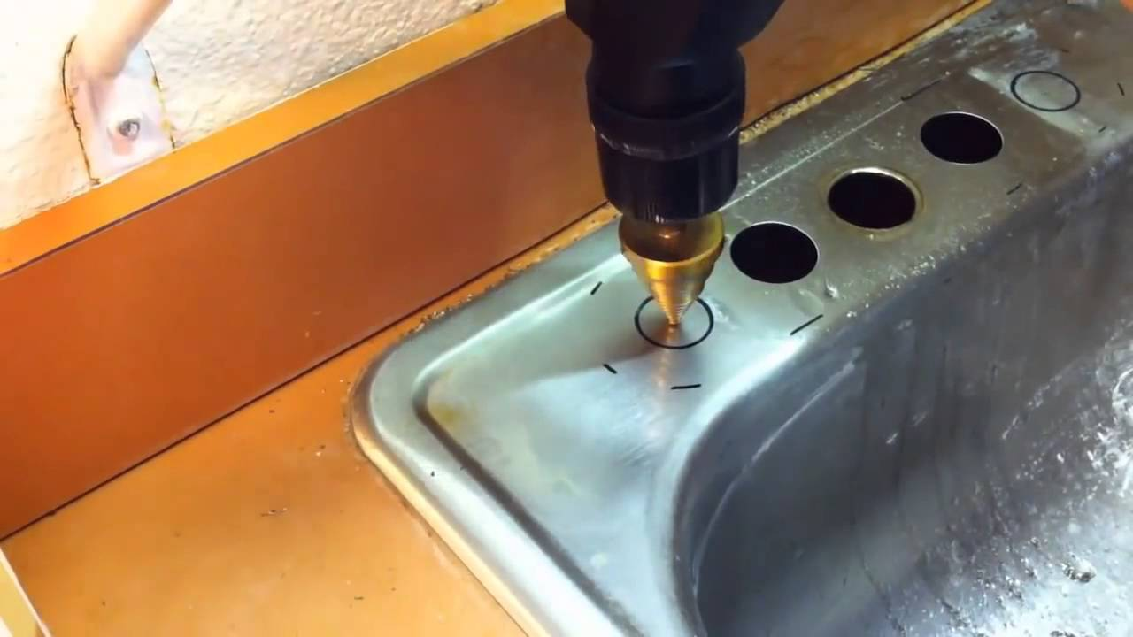 How to make a hole in a stainless steel sink