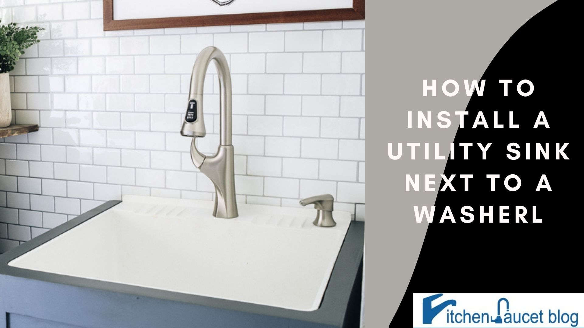 How to install a utility sink next to a washer