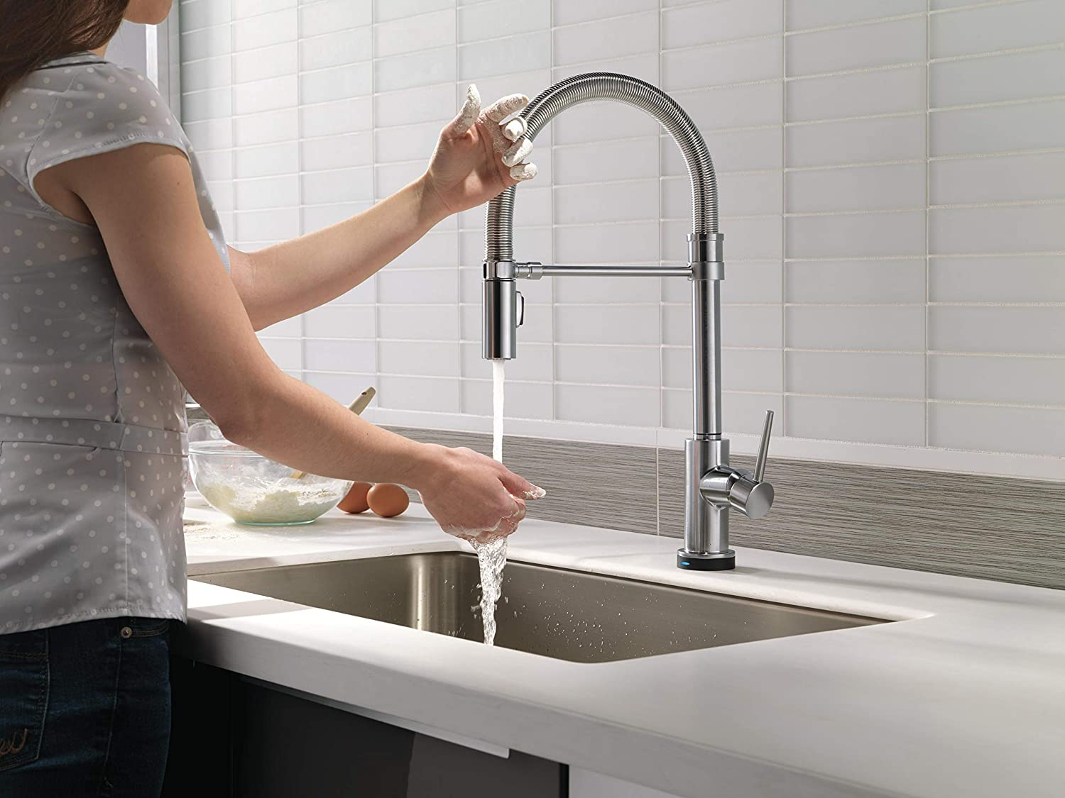 best stainless steel pull down kitchen faucet